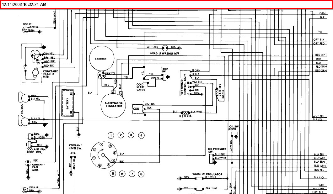 I Have A 1979 Porsche 928 And Need To Know Which Wires Go