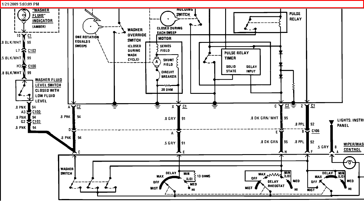 Need Wiring Diagram For Windshield Wipers  With Delay  On