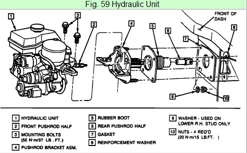 Need instructions to replace the ABS embly on a 89 buick ... on