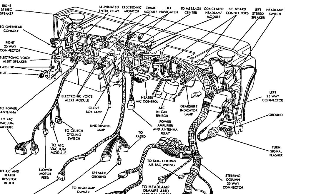 dodge dynasty wiring diagram
