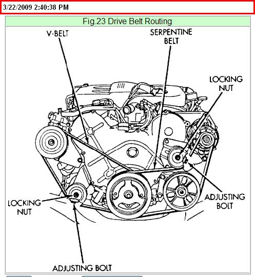 1999 Chrysler Lh Water Pump