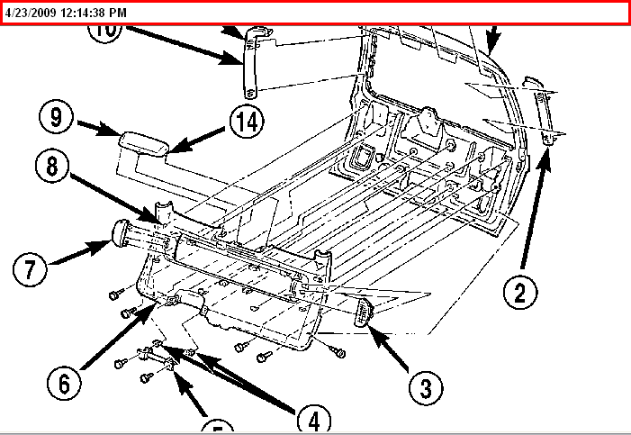 2010 chrysler town and country liftgate problems