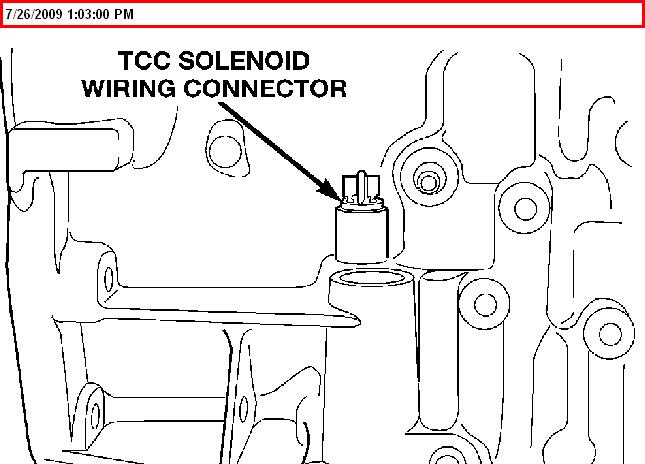 2000 dodge neon torque converter clutch solenoid location