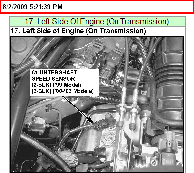 Where Is The Speed Control Sensor Located On The Acura Tl Ltr - 99 acura tl transmission