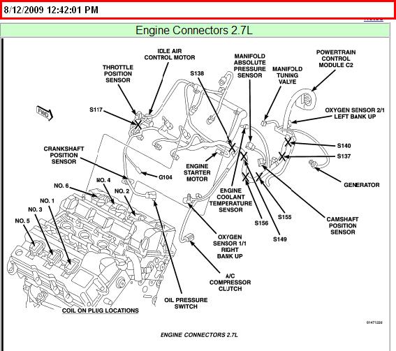 on 2002 Chrysler Sebring 2 7 Engine