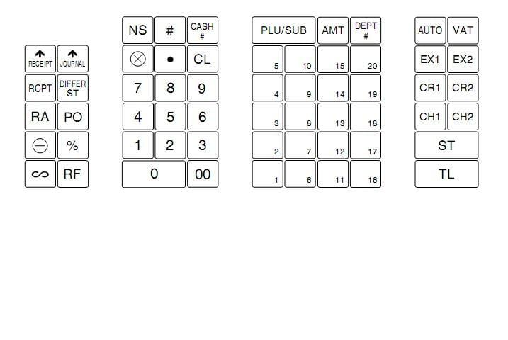 cash register keyboard template - cash register printable key labels bing images