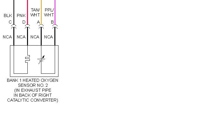 I Need The Wiring Diagram Or Just The Color Code For The Rear  Post Converter  Oxygen Sensor For