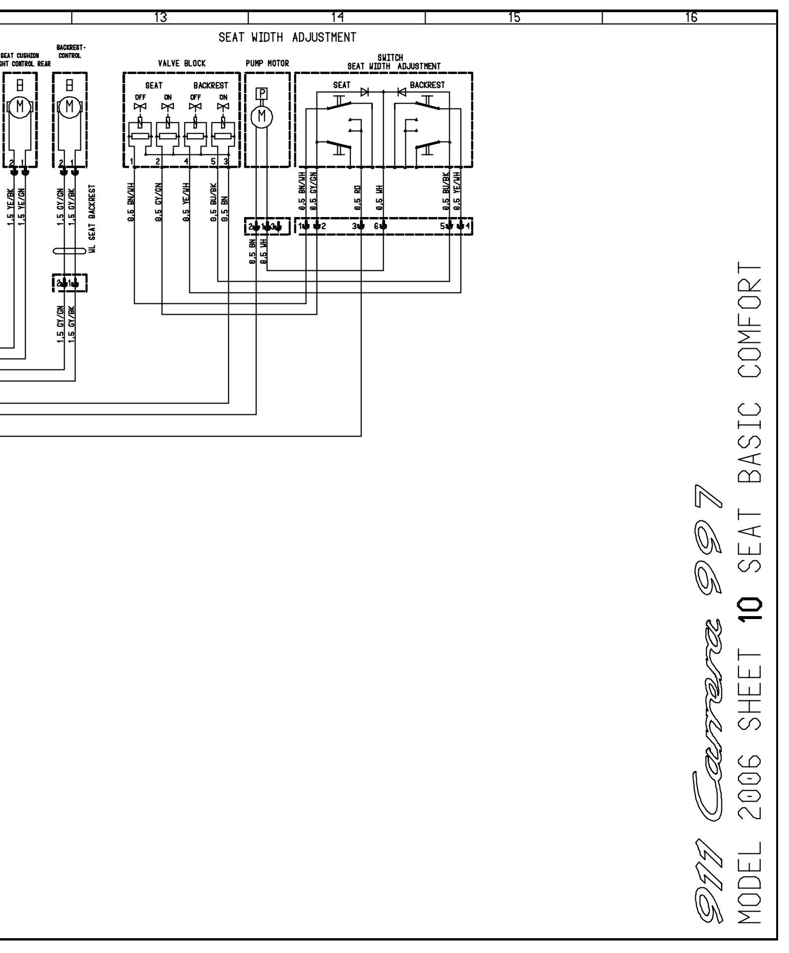 Need Wiring Diagram For Porsche 997 Power Seat  Especially
