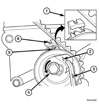 timing belt tensioner preload 2 4 dual overhead cam tensioner is not 2005 PT Cruiser Belt Diagram customer please take a look at the following pic to see if this is the same tensioner that you are speaking of