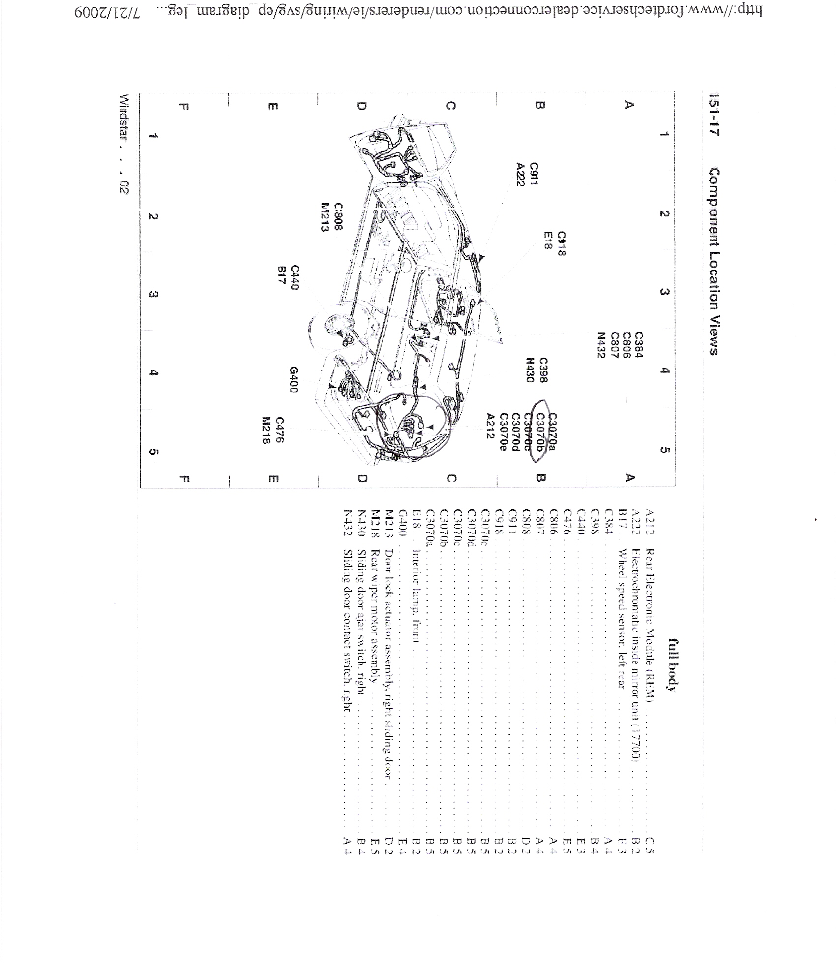 ford windstar  factory autodimming rear view mirror  wire diagram