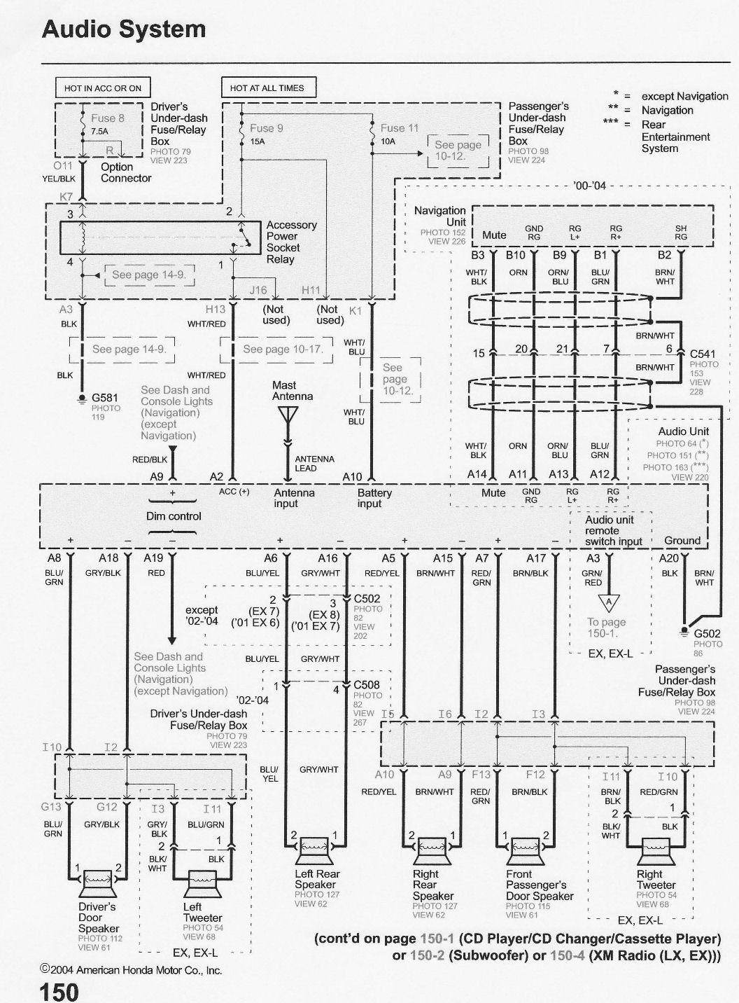Honda Stereo Wiring Diagram from www.justanswer.com